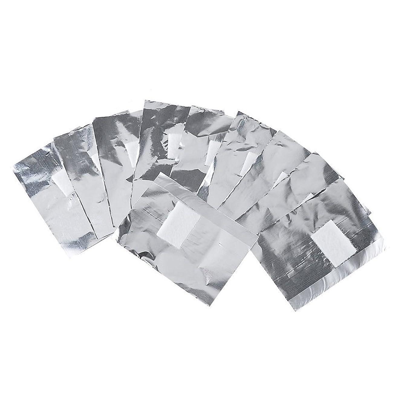 薬ミシン実証するlurrose 100ピースネイルポリッシュリムーバーネイルホイルラップネイルジェルリムーバーはがし綿綿パッド