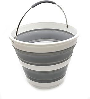 SAMMART Seau pliable en plastique - Bac rond pliable - Seau d'eau portable pour la pêche - Bouilloire d'extérieur peu enco...