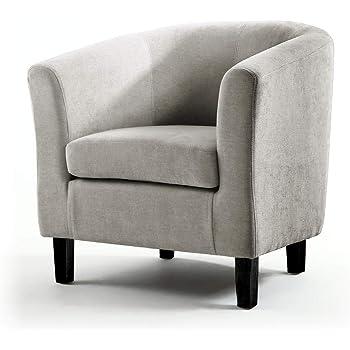 Poltrona in tessuto di lino di alta qualit/à per soggiorno reception 73W x 65D x 72H cm Dark Grey ufficio