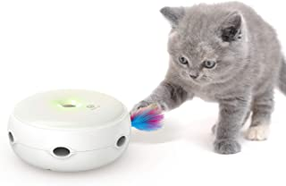 VAVAPet Interactive Cat Toys, Cat Toys Three Modes Day&Night Play Automatic Randomly Stimulates Cat's Senses Easy Replace Feather(Included Battery&Spare Feather) (Full Unit)