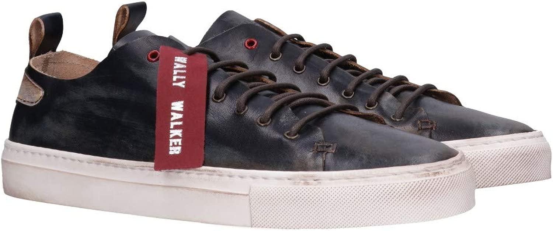 Wally Walker Mod. PIUMA-417 Turnschuhe Ultraleichte Leder Leder Herren Blau  gute Qualität
