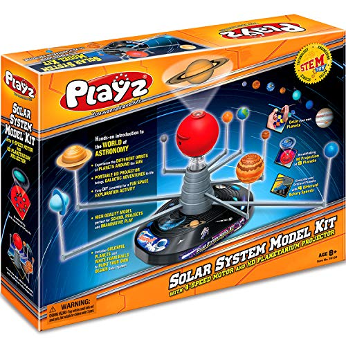 Product Image 4: Playz Solar System Model Kit with 4 Speed Motor, HD Planetarium Projector, 8 Painted Planets, and 8 White Foam Balls with Paint and Brush for a Hands-On STEM DIY Project