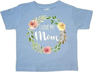 I Love My Mom- Flower Circle Toddler T-Shirt
