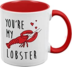 Old Glory Valentine's Day - You're My Lobster All Over Coffee Mug White-Red Standard One Size