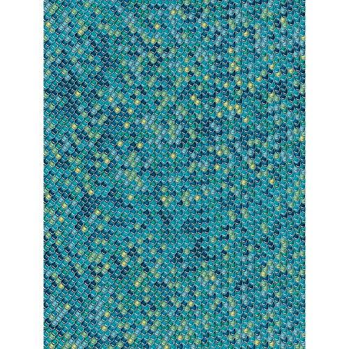 Décopatch Papier No. 729 Packung mit 20 Blätter (395 x 298 mm, ideal für Ihre Papmachés) blau, schuppenmuster