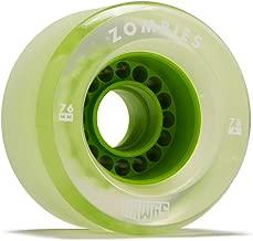 Hawgs Clear Zombie Longboard Wheels - 76mm - 78a - Green