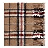 Sciarpa di lusso, in pura lana di agnello, con motivo tartan Camel Thomson Etichettalia unica