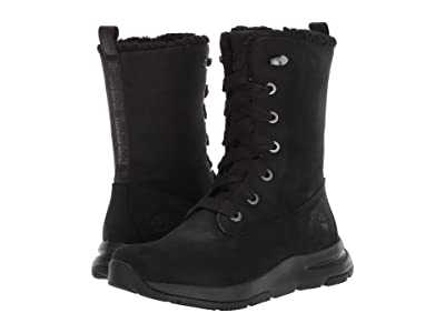 Timberland Mabel Town Mid Lace Waterproof Boot (Black Nubuck) Women