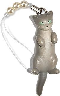 ペットラバーズ 猫どん LadyCat vol.7 ロシアンブルー ビーズ ストラップ N-2709