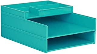 Armoires de bureau 2 tiroirs 31,6 x 24,6 x 6 cm en plastique de sécurité Armoire de rangement de dossiers de bureau Boîte ...