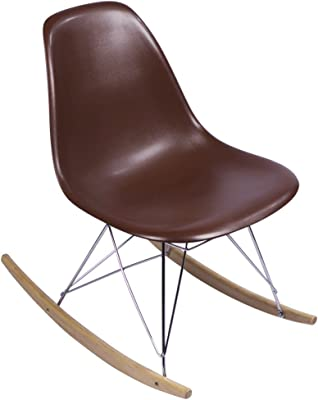 MidMod Designs Mid-Century Modern Rocking Chair Brown Replica
