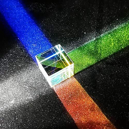 PIONIN Quadratwürfel Prisma Würfel Glasmalerei Prisma Strahlteiler Prisma Optisches Experimentierinstrument Optische Linse für den naturwissenschaftlichen Unterricht und Heimtextilien