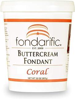 Fondarific Buttercream Coral Fondant, 2 Pound