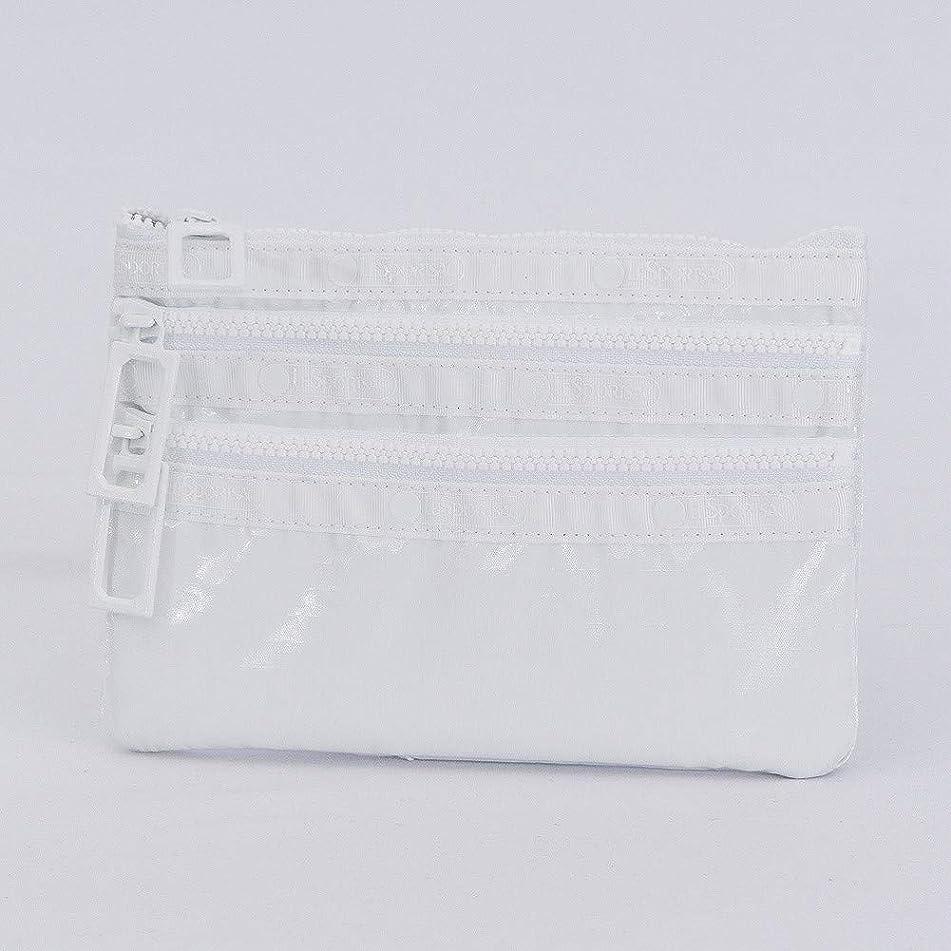 軽蔑滑るシャーク[レスポートサック] LeSportsac ポーチ 3Zip Cosmetic 7158 F122 ホワイトエルピー [並行輸入品]
