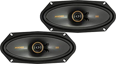$107 » KICKER 47KSC41004 KS Series Low Profile 4x10 Inch 4 Ohm 15 to 75 Watts RMS Power Factory Replacement Coaxial Car Audio Sou...