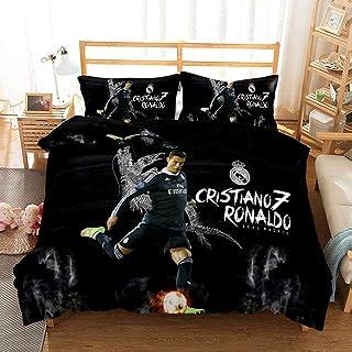 Ronaldo Bettwäsche 135 x 200 cm 2-teiliges Set, 1 Bettbezug und 1 Kissenbezug 80 x 80 cm mit Reißverschluss weiche Flauschige Bettbezüge