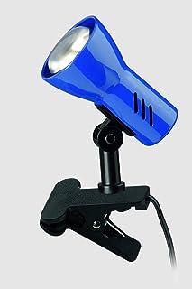 Briloner Leuchten - Flexo con pinza (giratorio, con interruptor, 40 W, metal, 40 W), color azul