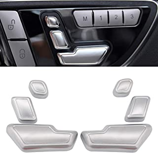 XtremeAmazing Pack of 6 Chrome Driver and Passenger Side Door Seat Adjust Buttons Switch Set