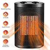 Space Heater, Portable Space Heater 1500W / 750W with Overheat Protection & Tip-Over Protection Personal Mini Heater with Adjustable Thermostat Fast Heating - Perfect for Home or Office