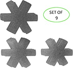 Set of 9 Gray Pan & Pot Protectors,3 Different Size,Avoid Scratching and Protect Surfaces