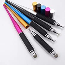 Misszhang-US 2-in-1 Universal Touch Pens Screen Tablet Phone Gaming Drawing Capacitive Stylus Pen Black