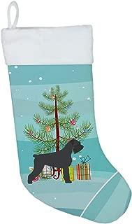 Caroline's Treasures BB2991CS Giant Schnauzer Merry Christmas Tree Christmas Stocking, Large, Multicolor