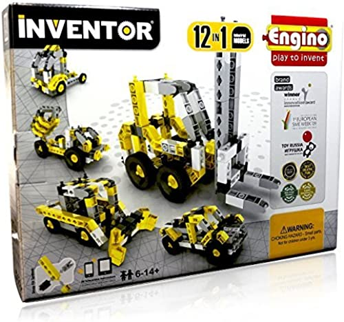 Engino Inventor Build 12 Construction Models Building Kit by Engino