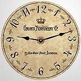 Reloj de pared redondo de madera rústica de Londres, de Ing