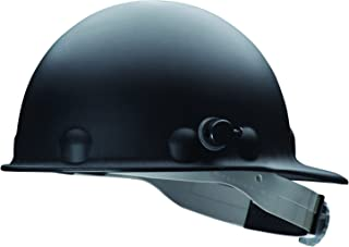 Fibre-Metal by Honeywell P2AQRW11A000 Super Eight Fiber Glass Cap Style Ratchet Hard Hat with Quick-Lok, Black