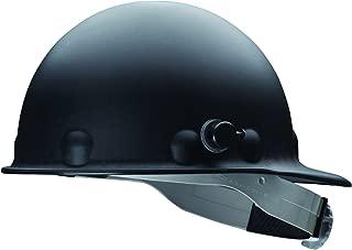 Fibre-Metal by Honeywell P2HNQRW11A000 Super Eight Fiber Glass Ratchet Cap Style Hard Hat with Quick-Lok, Black