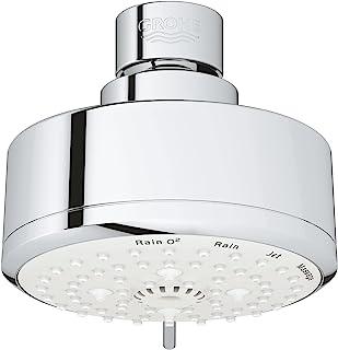 Grohe 27591001 Tempesta Cosmopolitan 100 2.5 GPM 4 Spray Shower Head, Starlight Chrome