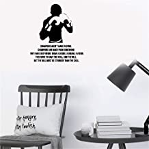 Kerta Peel and Stick Removable Wall Stickers Champions aren't Made in Gyms Champions are Made from Something They Have Deep Inside Them A Desire A Dream A Vision for Gym Boys Room