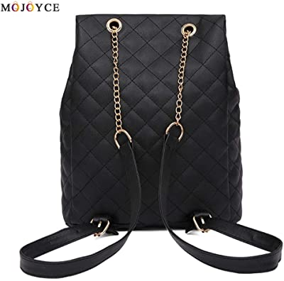 Women Backpack Teenage Girls Lattice Causal Hasp Shoulder PU Leather Mochila Feminina Female Knapsack