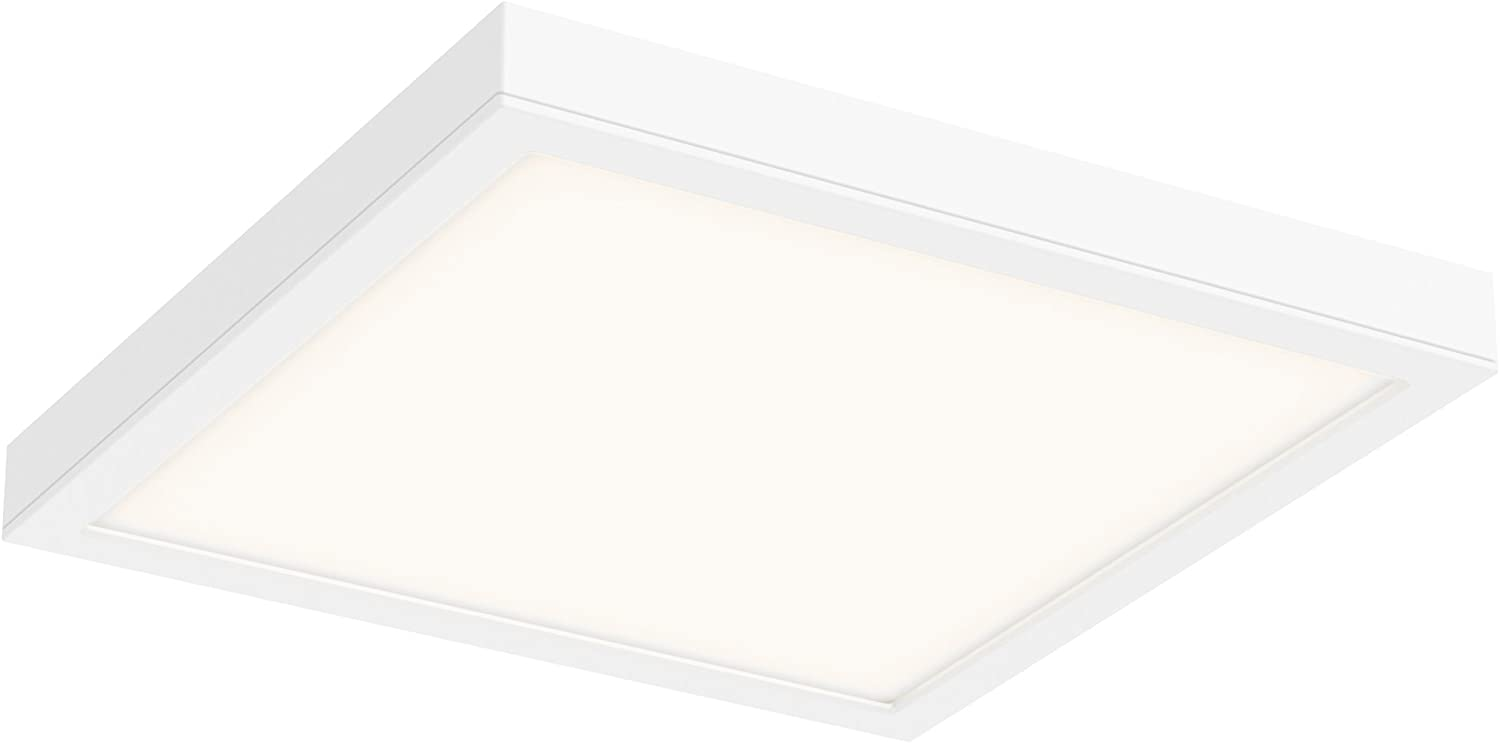 DALS Lighting CFLEDSQ14-WH 14  Square Indoor Outdoor LED Flush Mount, White