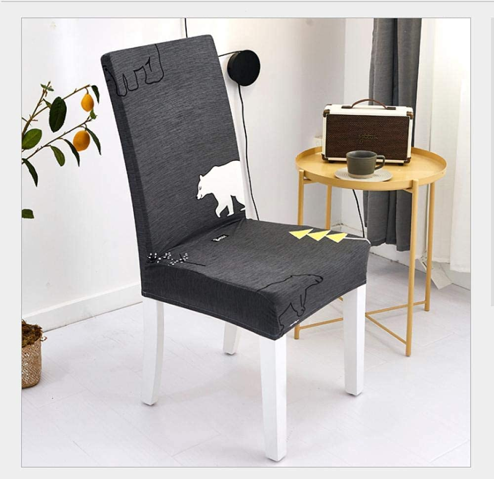 Chair New Shipping Free Covers 6 Pieces with High quality Polar Bear Backrest Gray