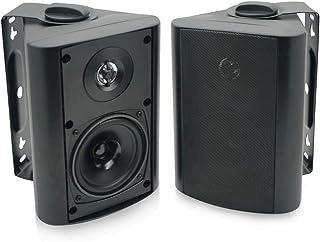 Herdio 4 Inches Outdoor Bluetooth Speakers Waterproof Patio Deck Wall Mount Speakers