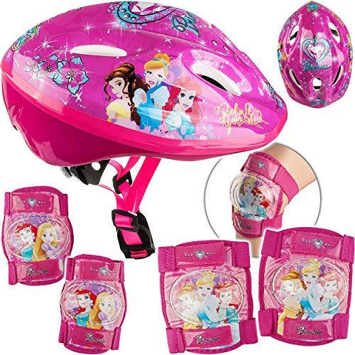 alles-meine.de GmbH 5 TLG. Set: - Sicherheitsset - Kinderhelm / Fahrradhelm - Disney Princess - Prinzessin - Gr. 52 - 56 - Circa 3 bis 15 Jahre - Größen verstellbar / mitwachsend..