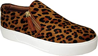 VOLATILE Women's Hopper Slip-on Platform Sneaker with Double Zipper Detail