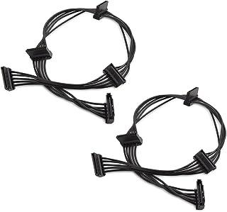 Cable Matters (2-pack) 15-stifts SATA till 4 SATA Power Splitter-kabel - 45 cm