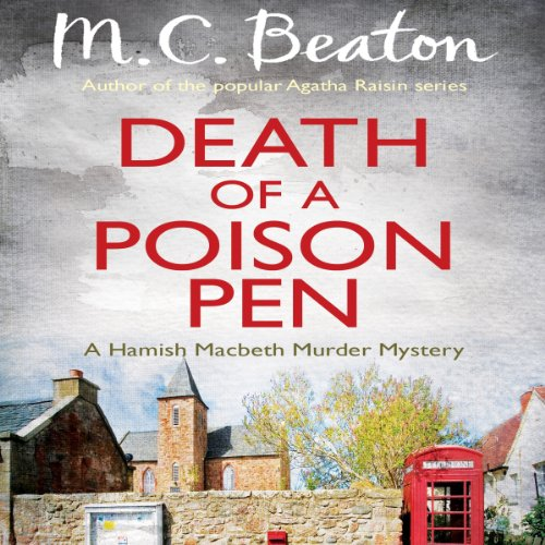 Death of a Poison Pen audiobook cover art