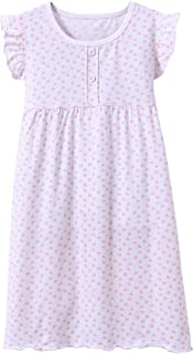 Image of Sleeveless White with Pink Hearts Nightgown for Girls - See More Styles