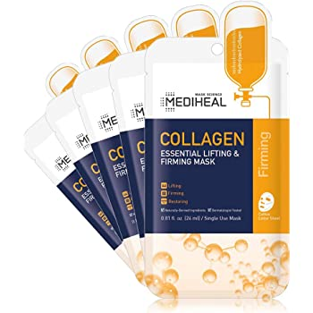 MEDIHEAL Official [Korea's No 1 Sheet Mask] - Collagen Essential Lifting & Firming Mask (5 Masks)