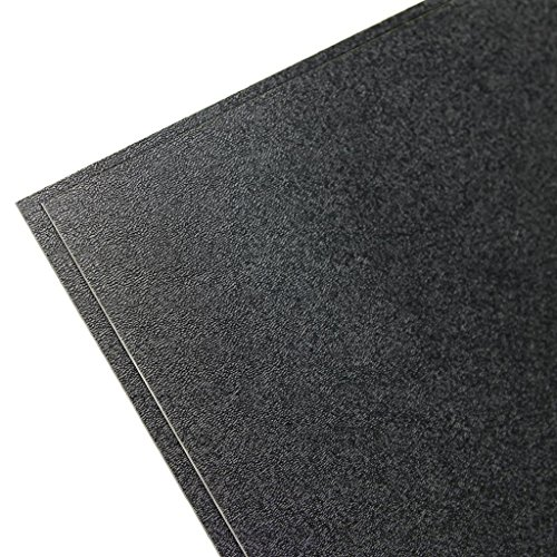 "Falken Design ABS-BK-0.06/1236 ABS Textured Plastic Sheet 1/16"" (0.060""), 12"" x 36"" - Black, Plastic"