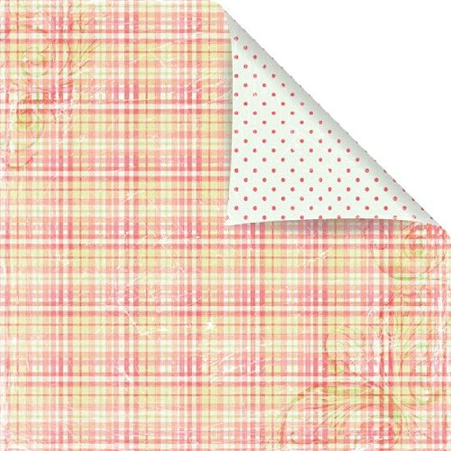 Prima 842659 12 by 12-Inch Sparkling Spring Cardstock Paper, Pink Apron, 25-Pack