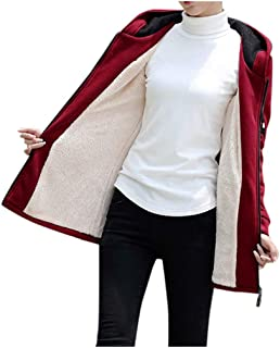 🍒 Spring Color 🍒 Women's Casual Long Sleeve Hoodie Jacket Solid Cotton Fleece Sherpa Lined Zip Coat Outwear with Pocket