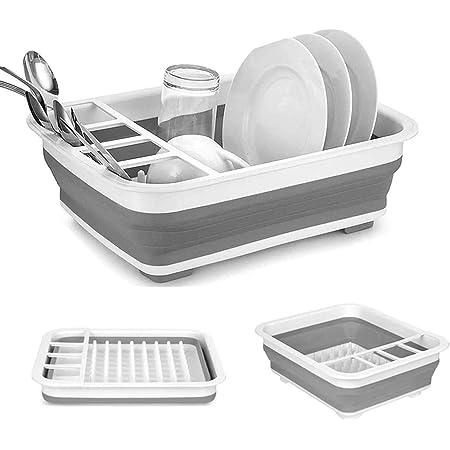 Collapsible Sink Kitchen Foldable Storage Colander Strainer Caravan Boat durable