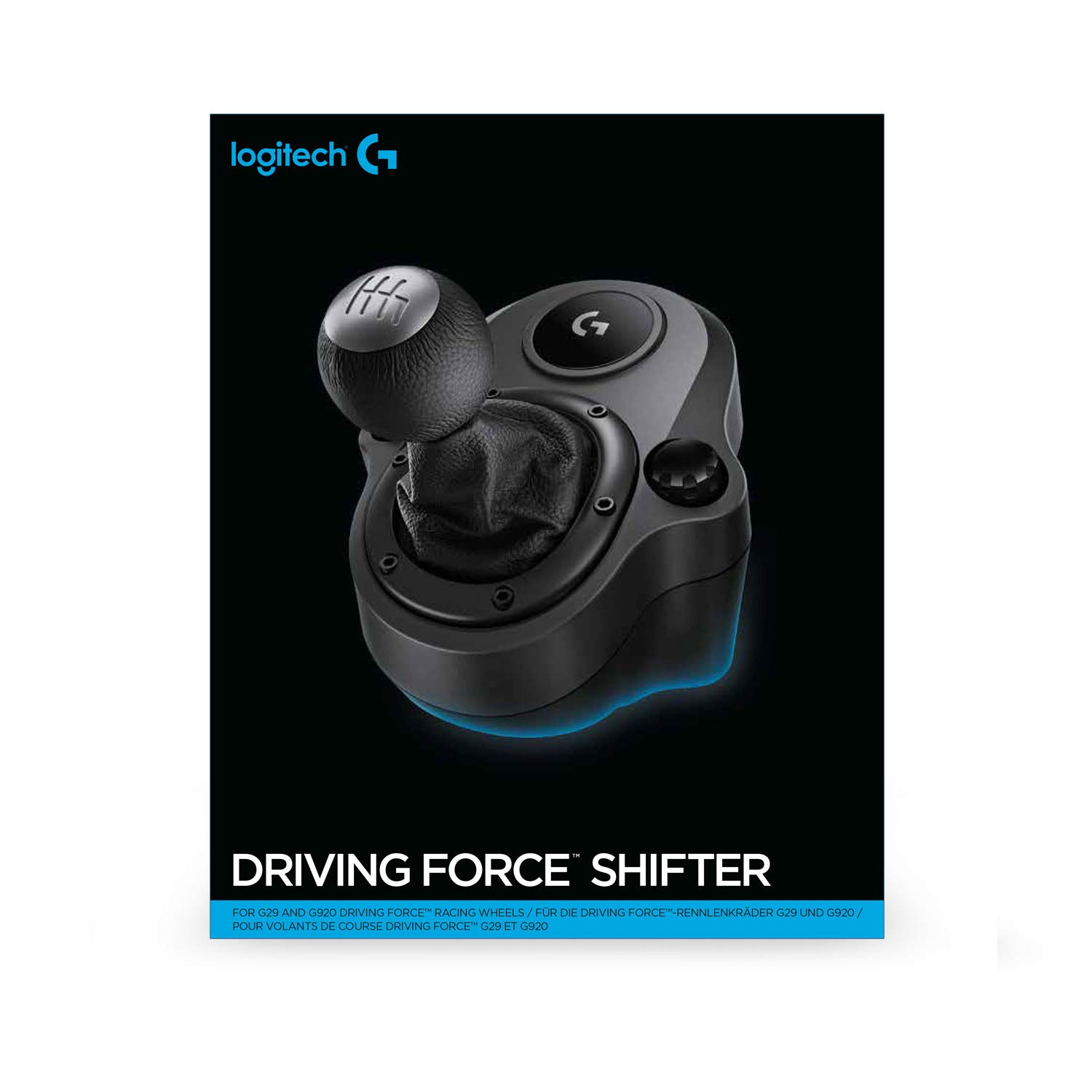 Logitech Driving Force Racing Shifter for G29 and G920 Driving Force Racing Wheels, 941-000130, Black