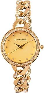 Giordano Analog Yellow Dial Women's Watch - C2037-33