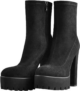 Best black platform high heel boots Reviews