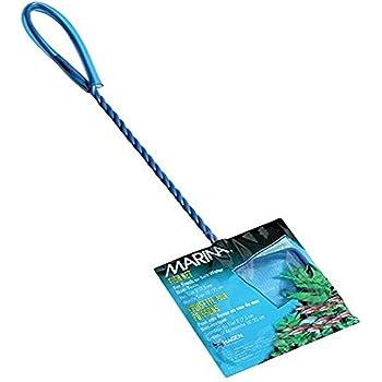 Marina Blue Fine Nylon Net with Handle, Aquarium Maintenance Tool, Blue